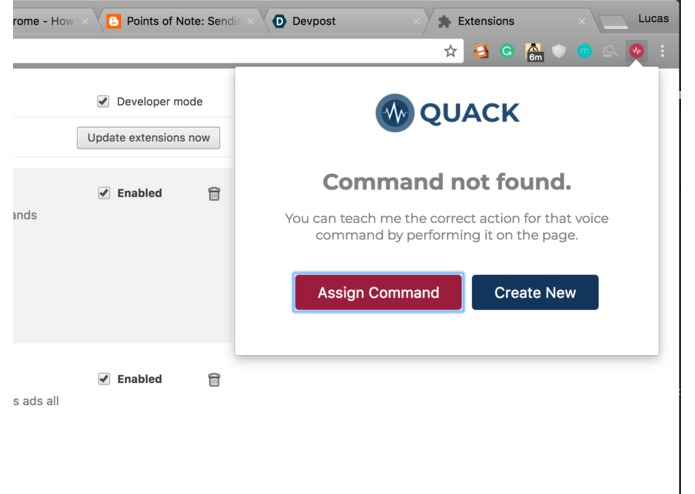 Quack - Voice Controlled Action Automation for Chrome – screenshot 3