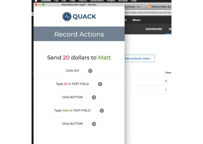 Quack - Voice Controlled Action Automation for Chrome – screenshot 4