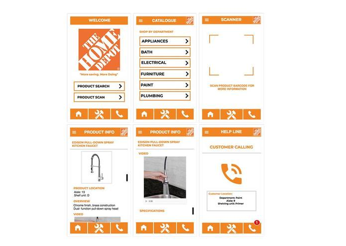 Home Depot App Design – screenshot 1