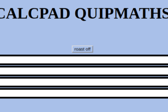 Calcpad Quipmaths