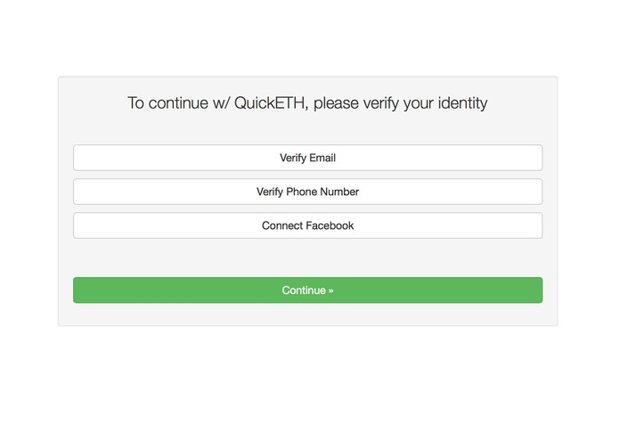QuickETH – screenshot 2