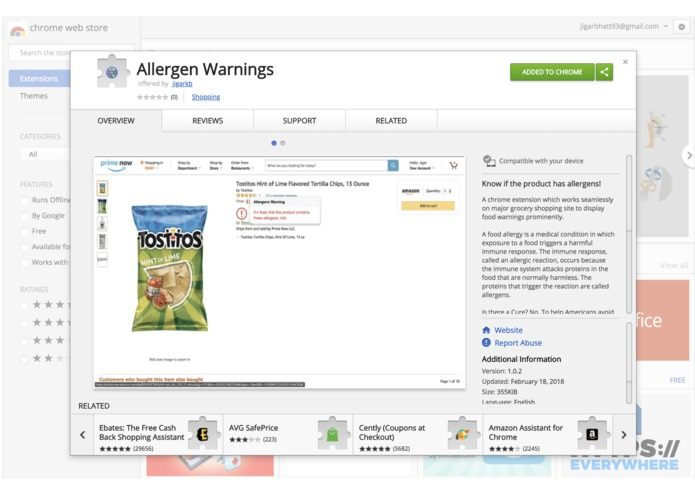 Allergen Warnings – screenshot 3