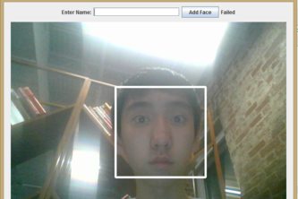 Real-time face detection and recognition using Java