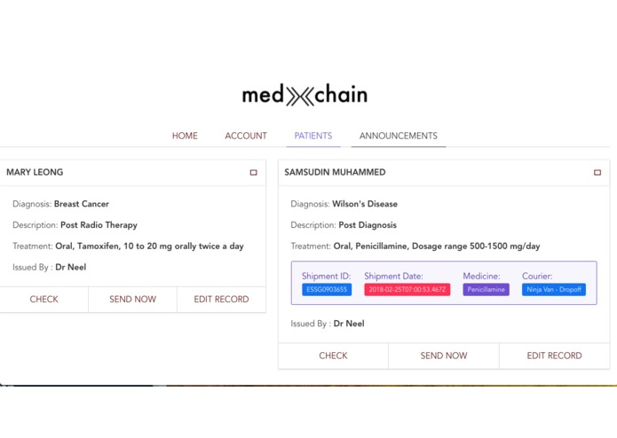 MedXchain – screenshot 5