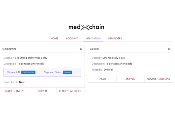 MedXchain – screenshot 6