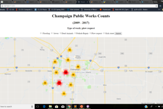Champaign Public Works Visualizer