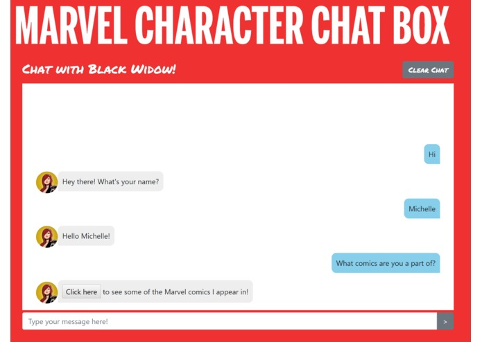 Marvel Character Chat Box – screenshot 2