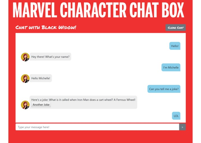 Marvel Character Chat Box – screenshot 3