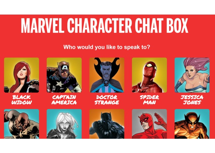 Marvel Character Chat Box – screenshot 1