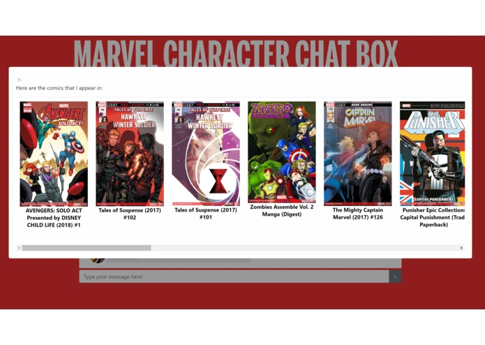 Marvel Character Chat Box – screenshot 4