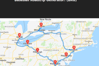 Baseball Roadtrip Planner