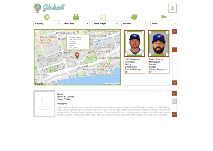 Baseball Hack Day 2018 - Globall – screenshot 2