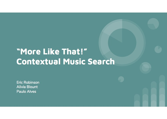 Contextual Music Search – screenshot 1