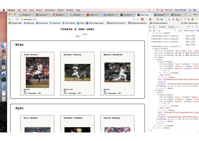 Blockchain Baseball Cards – screenshot 2