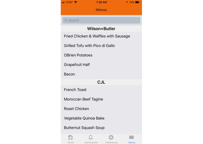 notifyMEal – screenshot 5
