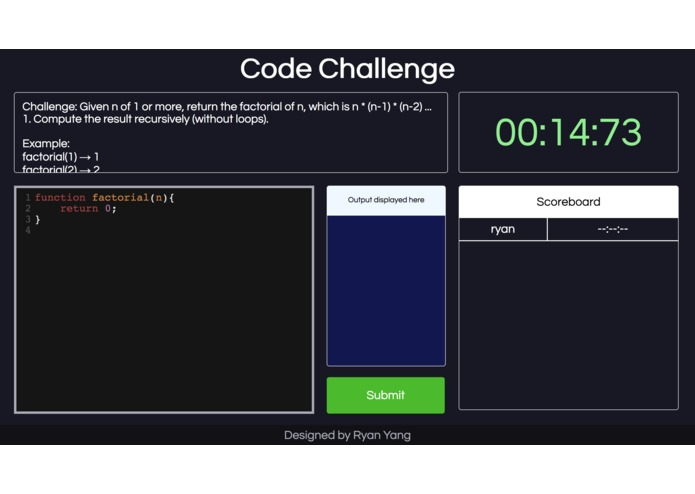 Code Challenge – screenshot 1
