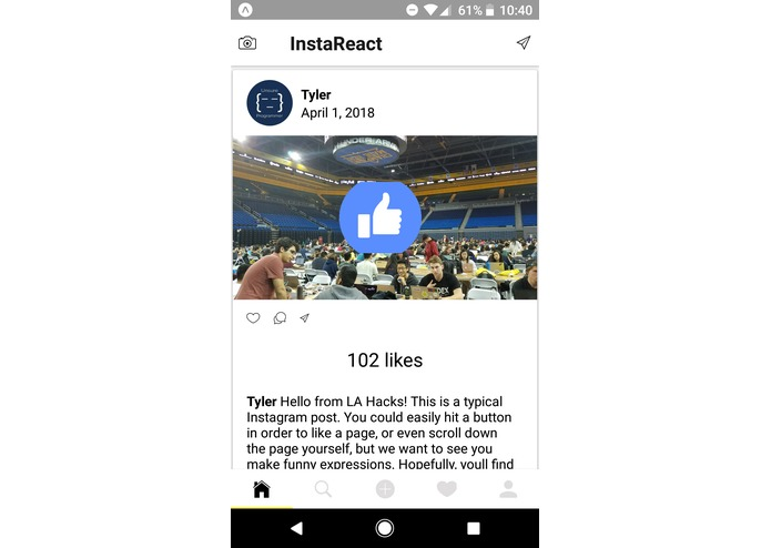 InstaReact – screenshot 2
