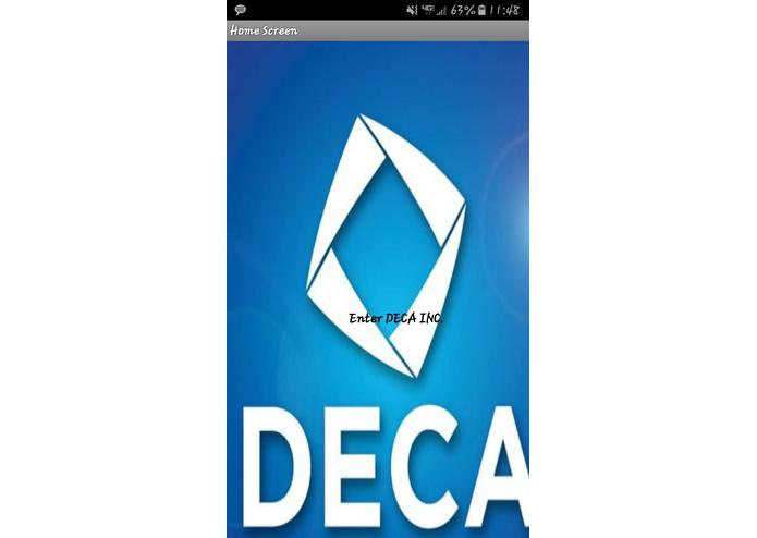 DECA Competition App – screenshot 1