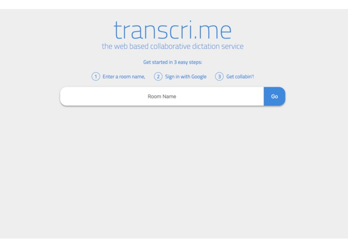 transcri.me - the collaborative dictation platform – screenshot 1