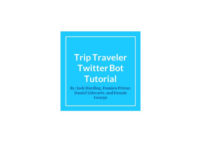 Travel Time Tweets  - A2 – screenshot 1