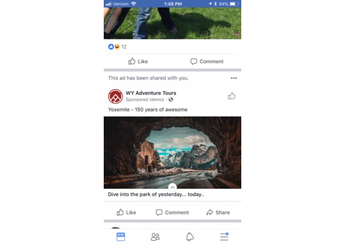 Experiential 3D Facebook Ads | Devpost