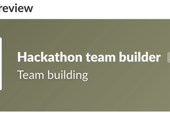 Hackathon team builder