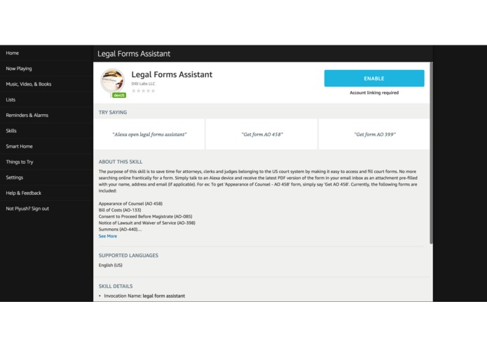 Legal Forms Assistant – screenshot 3