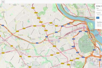 Web Application of Toll-based Route Guidance