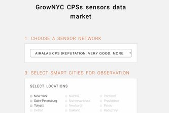 GrowNYC CPSs sensors data market