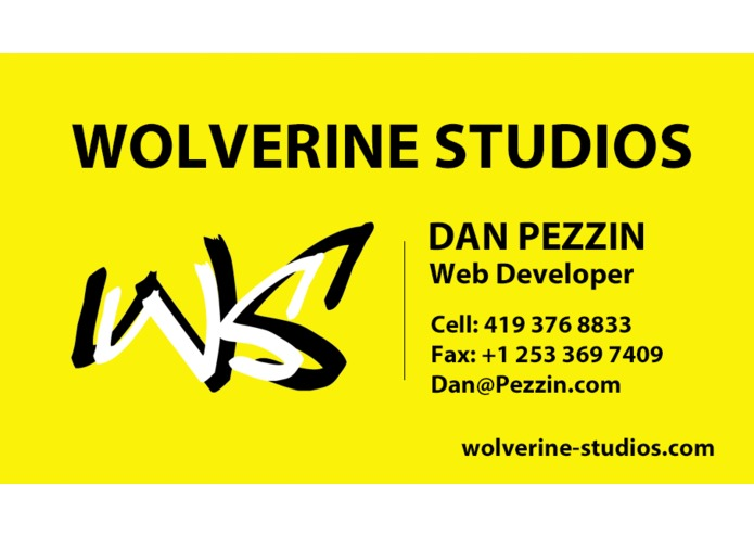 Wolverine Studios Business Cards – screenshot 1