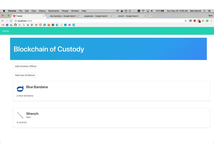 Blockchain of Custody – screenshot 1