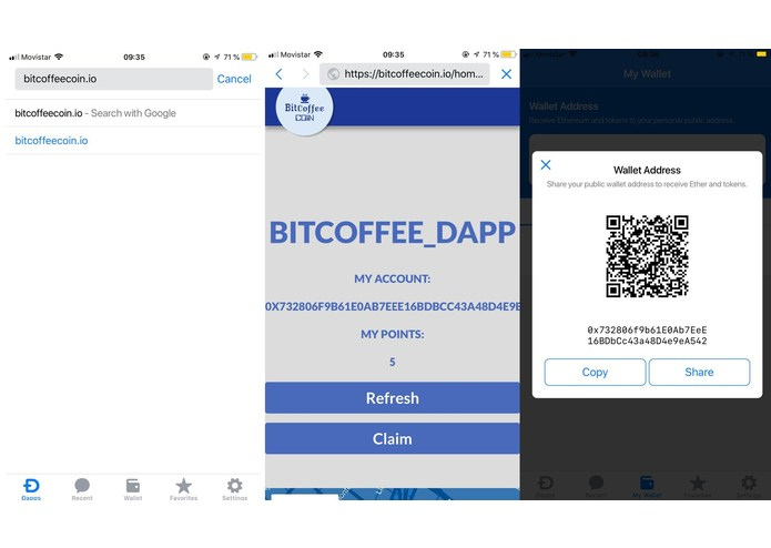 BitcoffeeCoin – screenshot 2