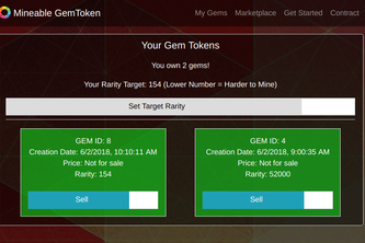 Mineable Gem Tokens