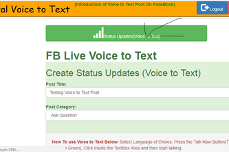 FB Digital Voice to Text