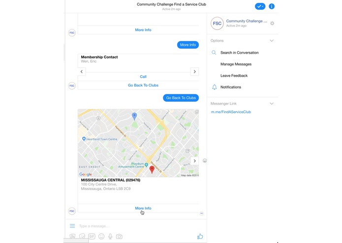 find-a-service-club-bot – screenshot 1
