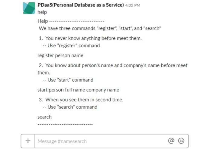 PDaaS (Personal Database as a Service) – screenshot 1