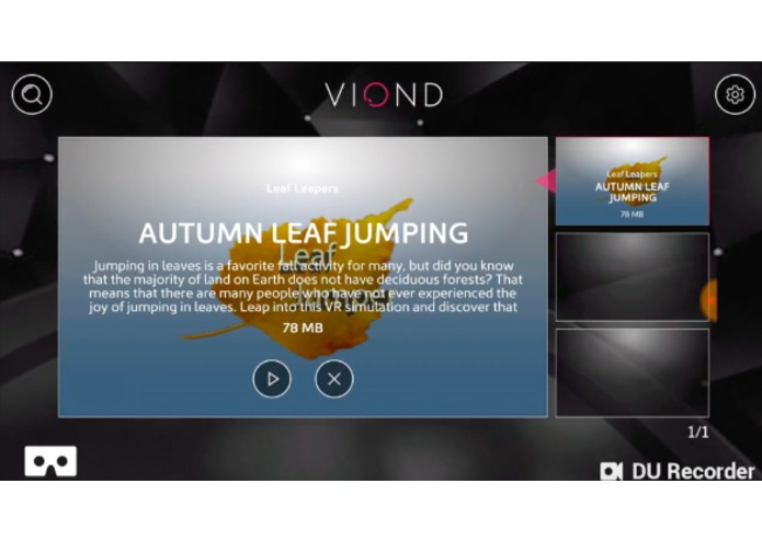 Autumn Leaf Jumper: Viond VR App #VRBucketList – screenshot 4