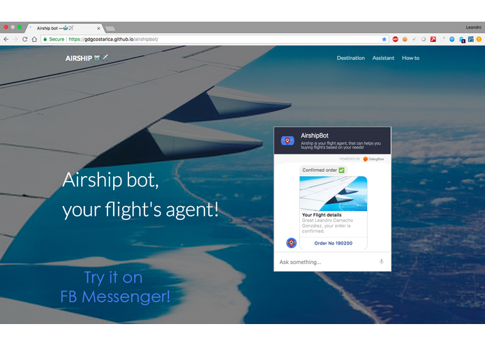 Airship bot – screenshot 1
