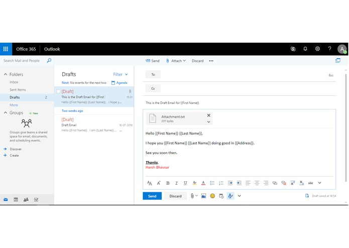 Total Email - An Excel add-in for Office 365 – screenshot 1