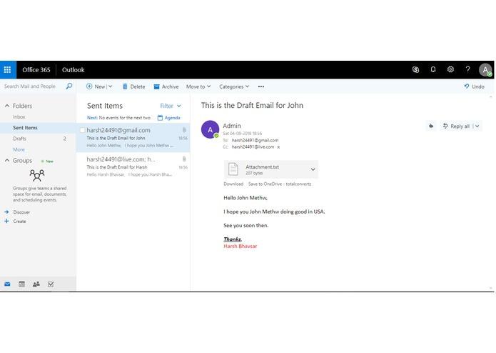 Total Email - An Excel add-in for Office 365 – screenshot 7