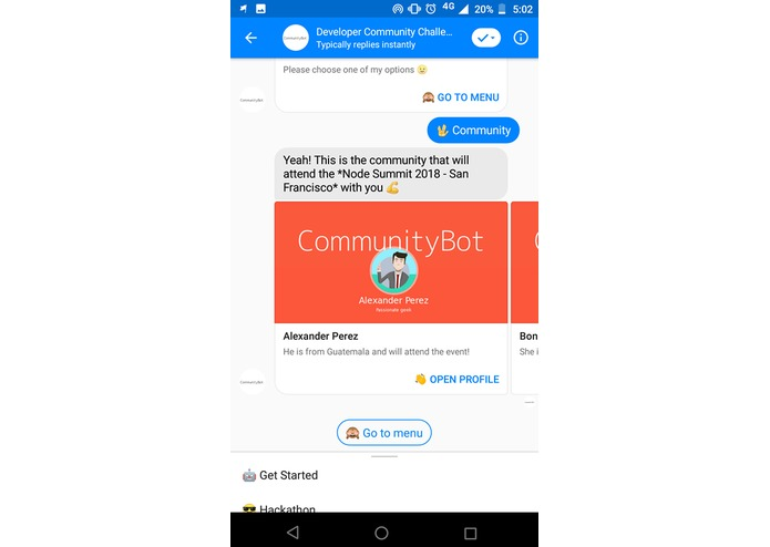 CommunityBot – screenshot 6