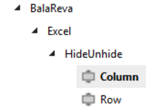 Excel Column Row Hide/Unhide