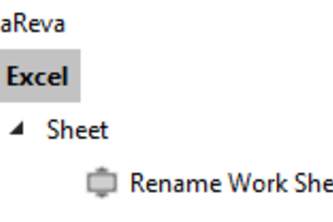 Excel Work Sheet Rename
