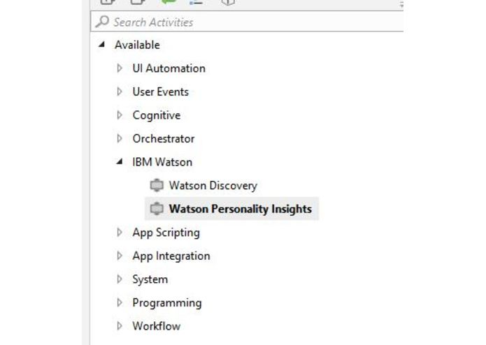 IBM Watson Personality Insights UiPath Connector | Devpost