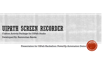 UiPath Screen Recorder