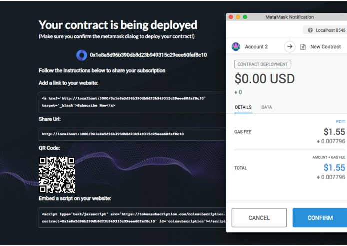 Token Subscription – screenshot 3