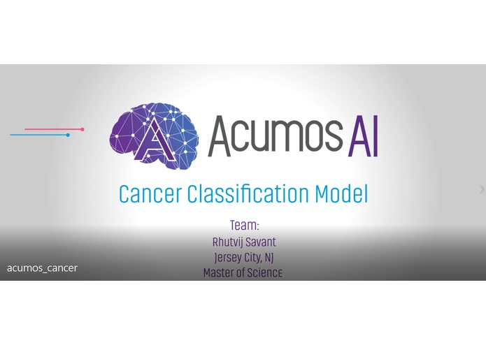 Cancer Classification – screenshot 1