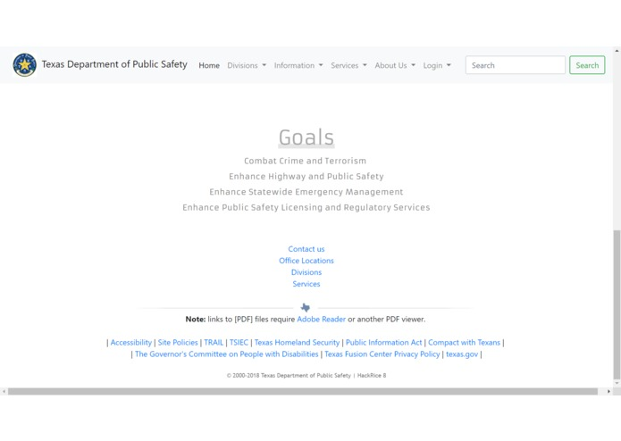 Texas DPS website – screenshot 4