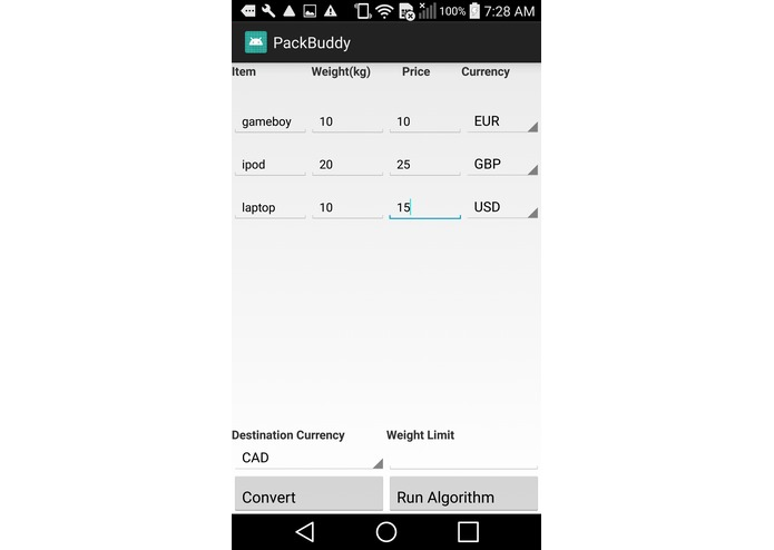 PackBuddy – screenshot 1