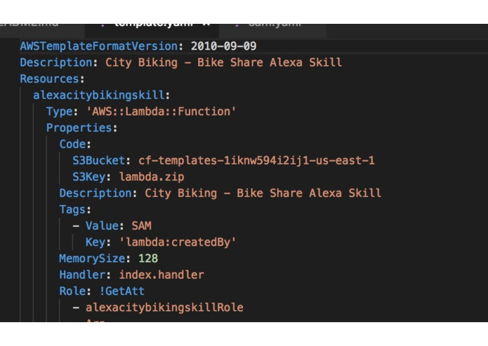 City Biking - Bike Share Alexa Skill built on SAM – screenshot 1